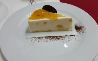 mousse de crema con mermelada de naranja