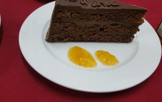 tarta sacher con mermelada de calabaza